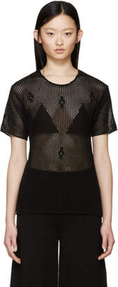 Maison Margiela Black Crochet Sweater