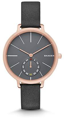 Skagen Women's SKW2396 Hagen Grey Leather Watch