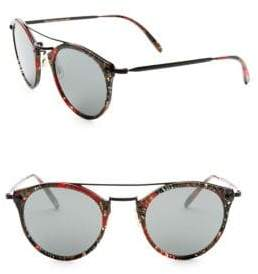 Oliver Peoples Alain Mikli 50MM Palmier Red & Black Sunglasses