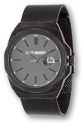 Steve Madden (スティーブ マデン) - Steve Madden Men 'sクラシックフラットメッシュカジュアルファッション快適なのアナログ時計バンド