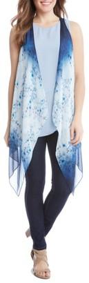 Women's Karen Kane Ombre Floral Vest $119 thestylecure.com