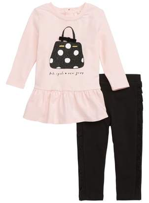 Kate Spade Dot Handbag Dress & Leggings Set