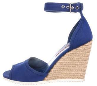 Christian Dior Woven Wedge Sandals Woven Wedge Sandals
