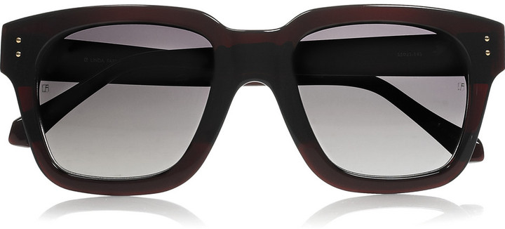 Linda Farrow Luxe Square-frame acetate sunglasses