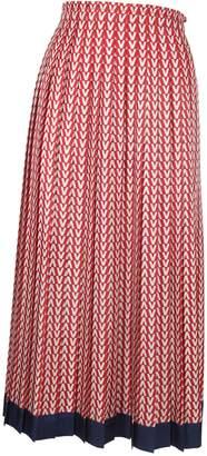 Valentino Logo Pattern Skirt