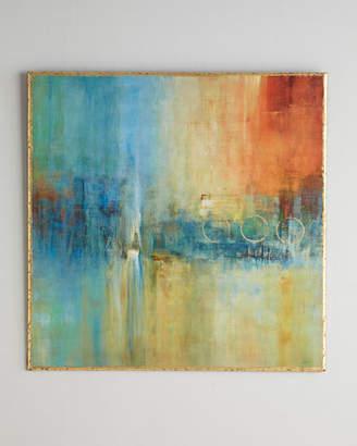 John-Richard Collection Blue Cascade Abstract Giclee on Canvas Wall Art