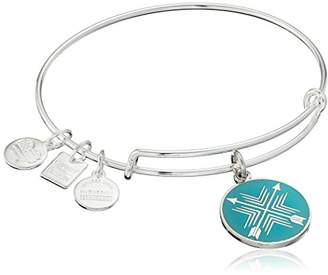 Alex and Ani Charity By Design Arrows of Friendship Expandable Shinny Silver Bangle Bracelet