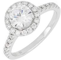 Bony Levy Pave Diamond Halo Round Engagement Ring Setting