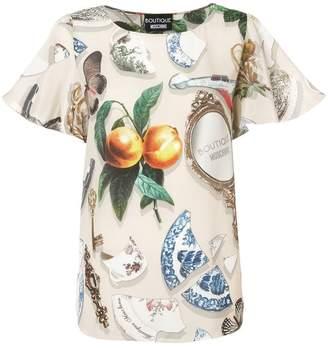 Moschino graphic print blouse