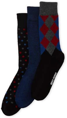Ben Sherman 3-Pack Top Argyle Crew Socks