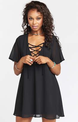 Show Me Your Mumu Rancho Vista Tunic Dress ~ Black Chiffon