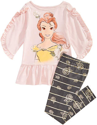 Disney Little Girls 2-Pc. Belle Graphic Tunic & Leggings Set