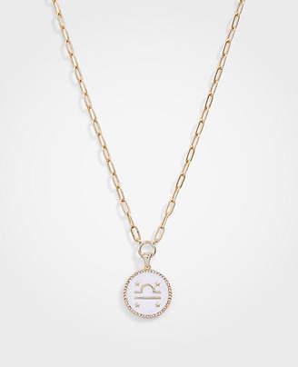 Ann Taylor Libra Zodiac Necklace