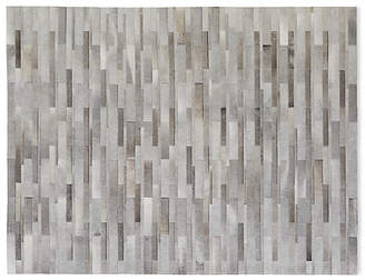 Design Within Reach Thin Strip Cowhide Rug, Grey/Brown