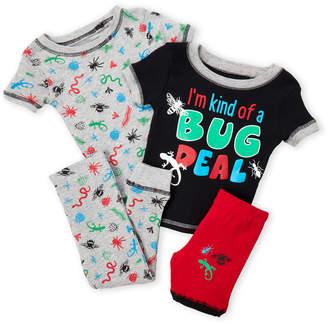 International Intimates (Toddler Boys) 4-Piece Bug Print PJ Set