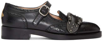 Gucci Black Iowa Dionysus Mary Jane Brogues