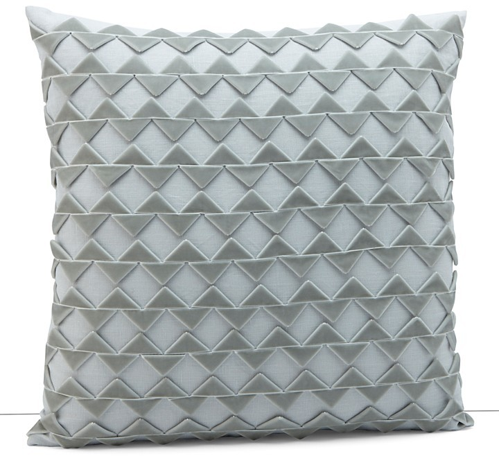 """Dransfield and Ross House Alhambra Zig Zag Ribbon Square Pillow, 18"""" x18"""""""