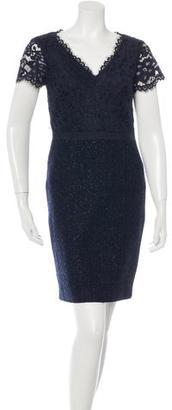 Trina Turk Lace & Bouclé Sheath Dress $125 thestylecure.com