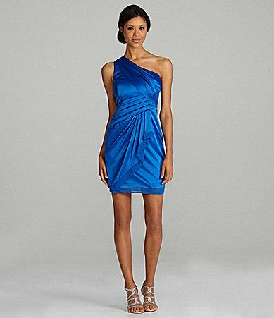 Vince Camuto Satin Faux-Wrap Dress
