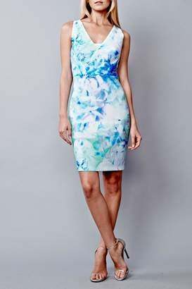 Julia Jordan Impressionist Floral Dress