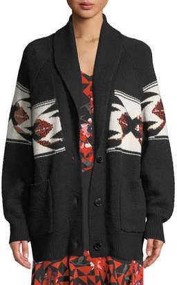 Joie Faisal Sequin Button-Front Cardigan