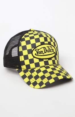 Von Dutch 237 Checker Snapback Trucker Hat