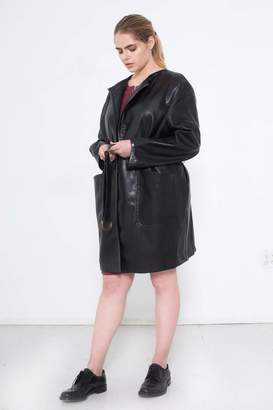 See Rose Go Statement Coat in Black Size 1 Polyester/Vegan Leather