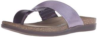 Rockport Women's Total Motion Romilly Curvy Thong Sparrow Smooth/Silver Pearl