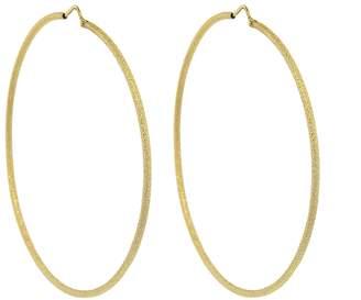 Carolina Bucci Large Florentine Finish Round Hoop Earrings - Yellow Gold