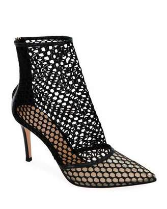 Gianvito Rossi Fishnet High-Heel Booties