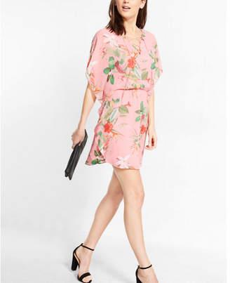 Express Floral Print Lace-up Caftan Dress $64.90 thestylecure.com