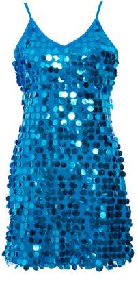 Quiz Blue Sequin Embellished Bodycon Dress