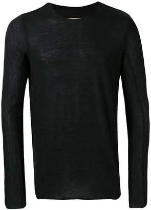 Ziggy Chen distressed fine knit sheer sweater