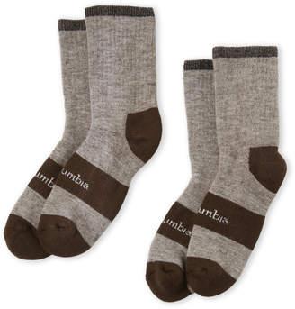 Columbia 2-Pack Wool Blend Crew Socks