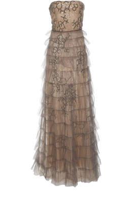 J. Mendel Strapless Gown