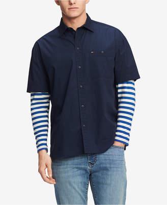 Tommy Hilfiger Men's Sidney Oversized Striped-Sleeve Shirt