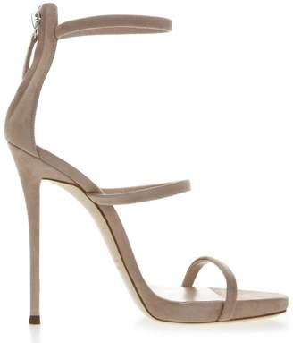 Giuseppe Zanotti Harmony Nude Suede Sandals