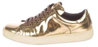 Tom Ford Metallic Patent Leather Sneakers