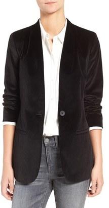 Madewell Lauren Velvet Blazer $158 thestylecure.com
