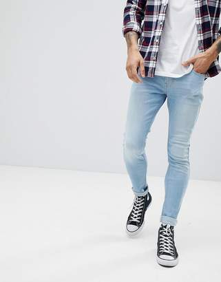 Hollister Superskinny Stretch Jeans in Light Bleach Wash