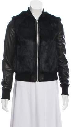 Elizabeth and James Fur & Leather Jacket
