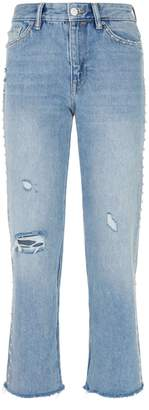 AllSaints Ava Studded Straight Jeans