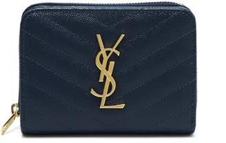 Saint Laurent Monogram quilted-leather wallet
