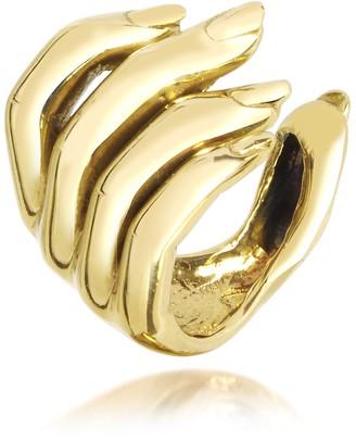 Forzieri Bernard Delettrez Goldtone Open Hand Women's Bronze Ring