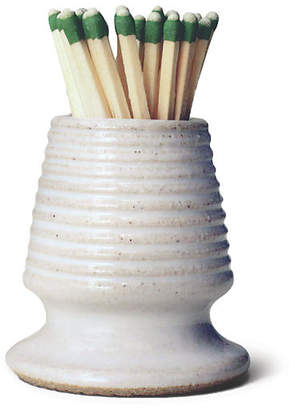 """2"""" Bistro Footed Match Striker - White/Natural - Farmhouse Pottery"""