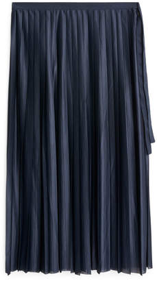 Arket Pleated Jersey Skirt