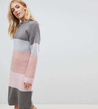 Asos Tall TALL Chunky Knitted Dress in Stripe
