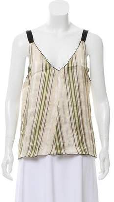 Giada Forte Oversize Narrow-Shoulder Strap Top
