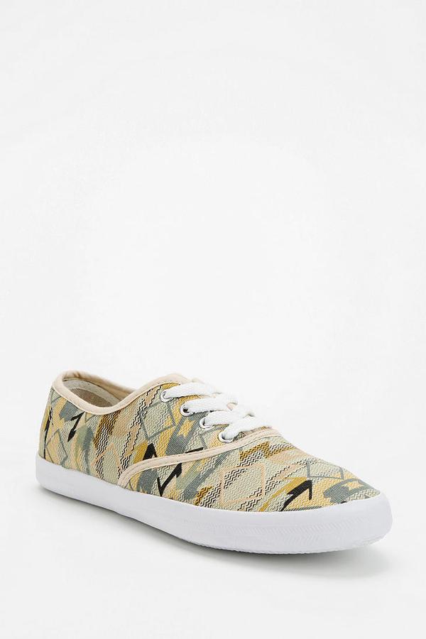 Woven Plimsoll Sneaker