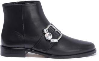Sophia Webster 'Arlo' jewelled buckle leather ankle boots